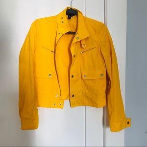 LAUREN ACTIVE Yellow Bomber, Water Resistant, S